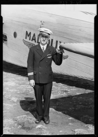 Captain Richard Ranaldi, Maddux Air Lines, Southern California, 1929
