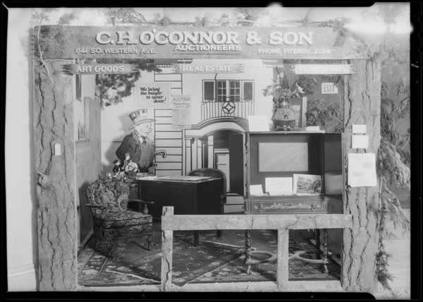 Booth at land show, C.H. O'Connor & Son, Southern California, 1930