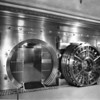 Bank vault, safety deposit boxes