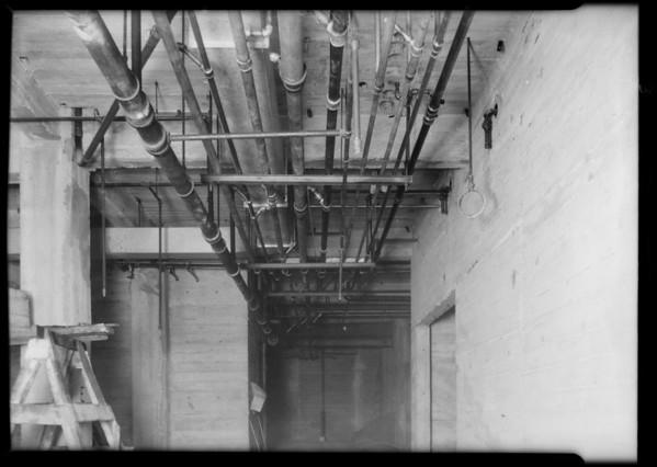 Plumbing installations, general hospital, Los Angeles, CA, 1931