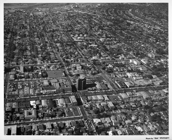 Aerial view of Glendale looking west