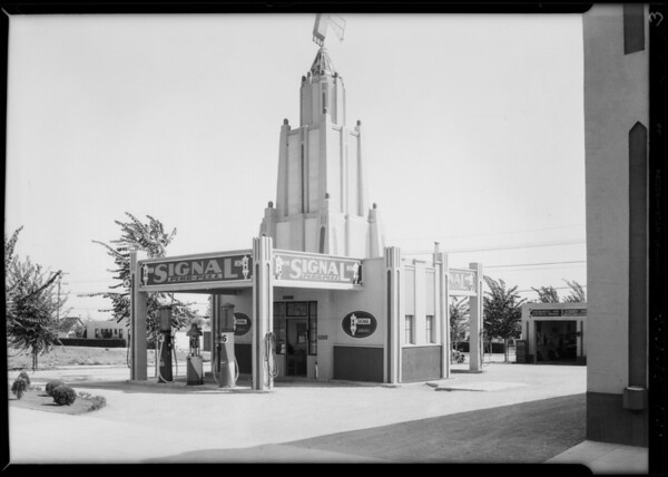 Purr-Pull gas stations, Southern California, 1931