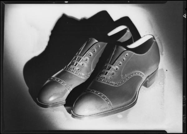 Mens shoes, May Co., Southern California, 1929