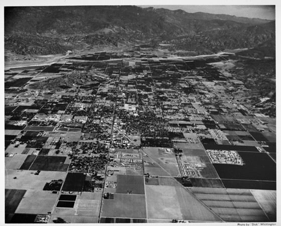 Aerial view of Hemet in Riverside County, California
