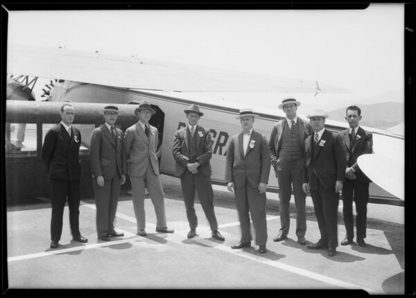 Foreign trade convention men at Grand Central, Glendale, CA, 1930