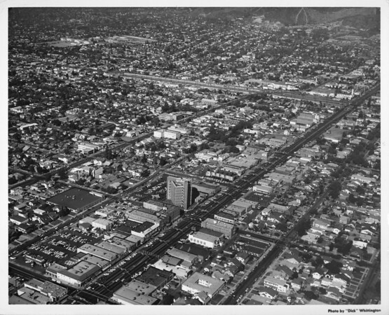 City of Glendale looking north down Brand Boulevard towards the Verdugo Mountains