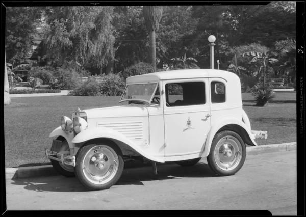 Austin & Ford cars, Southern California, 1930