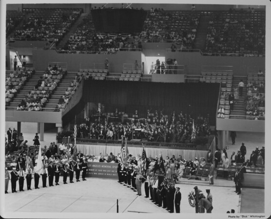 Los Angeles Sports Arena, interior view, Memorial Day dedication ceremony