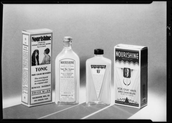 Nourishine toilet articles, Southern California, 1931