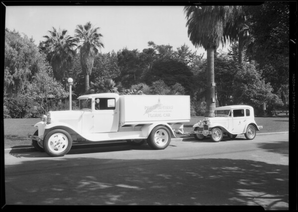 Austin & Ford cars, Southern California, 1930