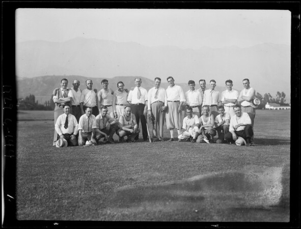 Annual picnic of Southern California Milk Dealers' Association at Flintridge, La Cañada Flintridge, CA, 1929