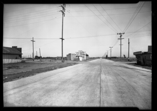 Intersection of Prairie Boulevard & Electric Boulevard, Southern California, 1929