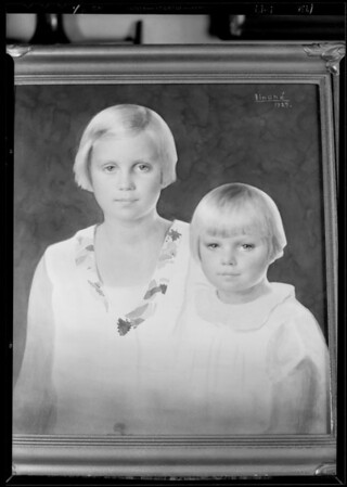 "Paintings by ""Lindhé"" of kiddies - Mrs. Henshaw, Southern California, 1930"