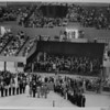 Los Angeles Memorial Sports Arena, interior view, Memorial Day dedication ceremony, Richard Nixon, podium