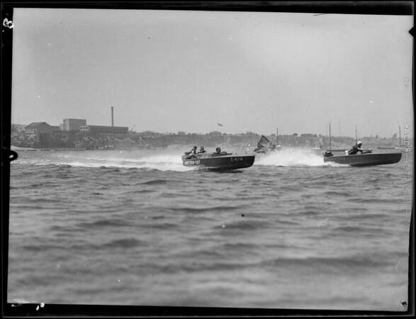 Outboard motor races, Cabrillo Beach, Los Angeles, CA, 1931