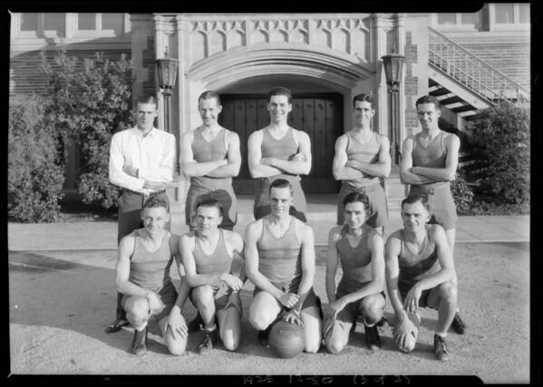 Basketball team, Mr. Lambert, Manager, Southern California, 1925