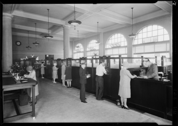 Interiors and exteriors, Security-First National Bank, Los Angeles, CA, 1929