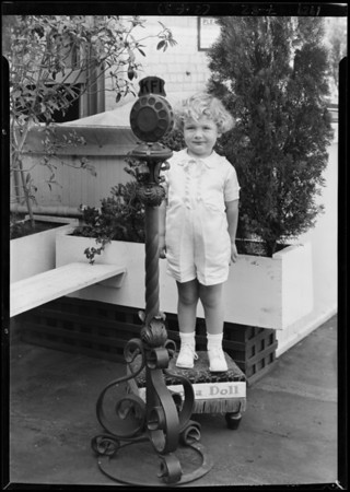 Children and microphone, Southern California, 1929