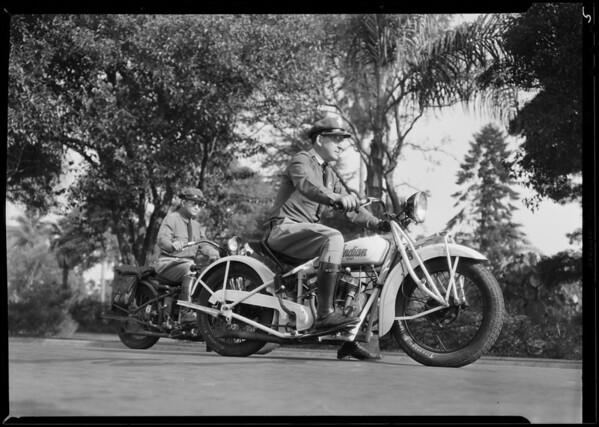 Motorcycle run on Economy gas, Southern California, 1930
