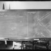 Blackboard in department 33, Judge Westover, Selger vs Chandler, Southern California, 1931