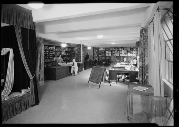 Display rooms, Dazian's Inc., 728 South Hill Street, Los Angeles, CA, 1929