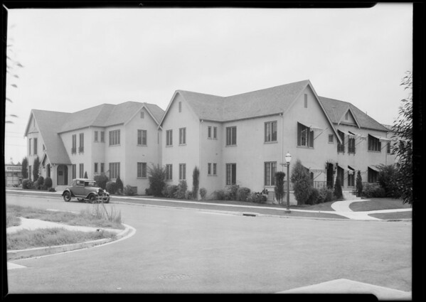 Flat building, Southeast corner of Edgewood Place and South Orange Drive, Los Angeles, CA, 1929