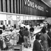 Inside Von's Grocery at meat counter