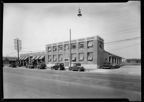 Warehouse at 6021 South Central Avenue, Los Angeles, CA, 1929