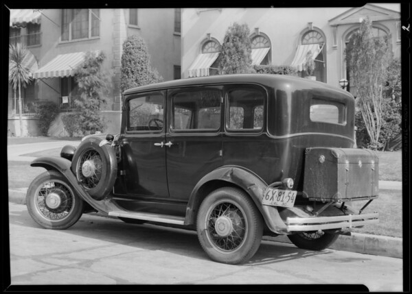 Dodge belonging to 158 South Berendo Street, Los Angeles, CA, 1930