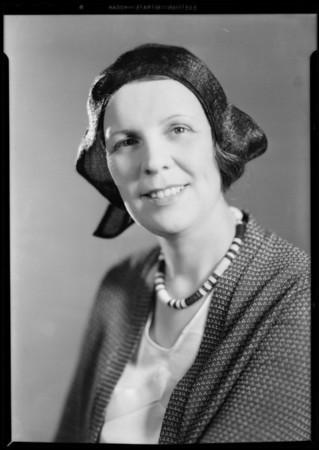 Mrs. Provine, Globe Outfitting Co., Southern California, 1931