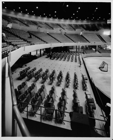 Los Angeles Memorial Sports Arena, interior view, newly constructed