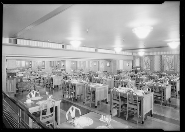 Tea room, The May Co., Southern California, 1930