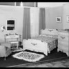 Bedroom set-up, May Co., Southern California, 1931