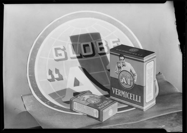 Globe A1 flour setup, Southern California, 1930