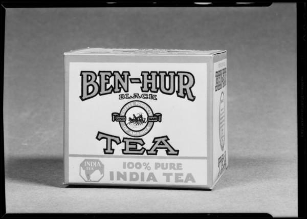 Tea package, Ben-Hur, Southern California, 1931