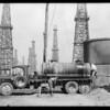Carmean Trucking Co. trucks at Signal Hill, CA, 1929