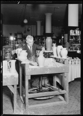 Optometrist department, pottery, Southern California, 1931