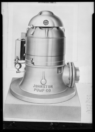 Pump, United States Electric, Southern California, 1931