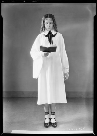 Choir costumes, etc., Southern California, 1931