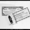Copies of gloves & merchandise orders for Art Engraving Co., Southern California, 1925