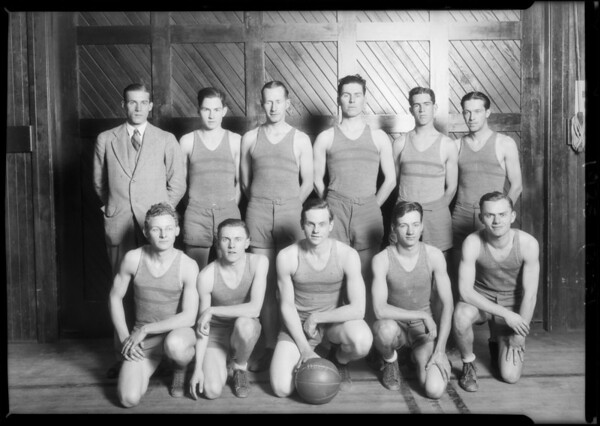 Basketball team, Security Bank, Southern California, 1925