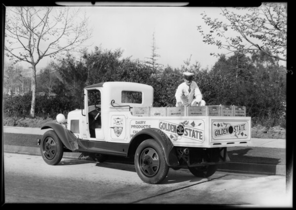Golden State Creamery Co. truck, Southern California, 1931