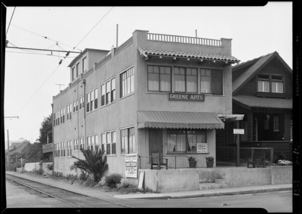 Greene apartments, 160 Ocean Park Boulevard, Santa Monica, CA, 1929