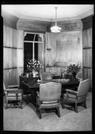 Flowers on opening day, Pellissier Building, Los Angeles, CA, 1931