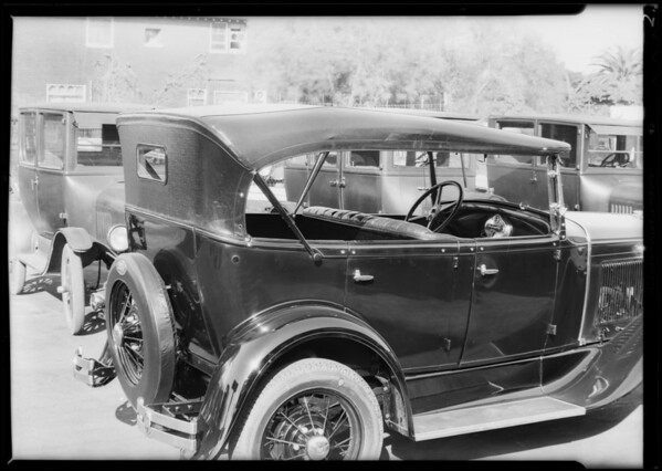 New Ford touring car & show top, also Mr. Brown of Tupman's, Southern California, 1930