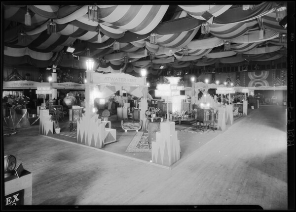 Radio booth at Ambassador, Los Angeles, CA, 1929