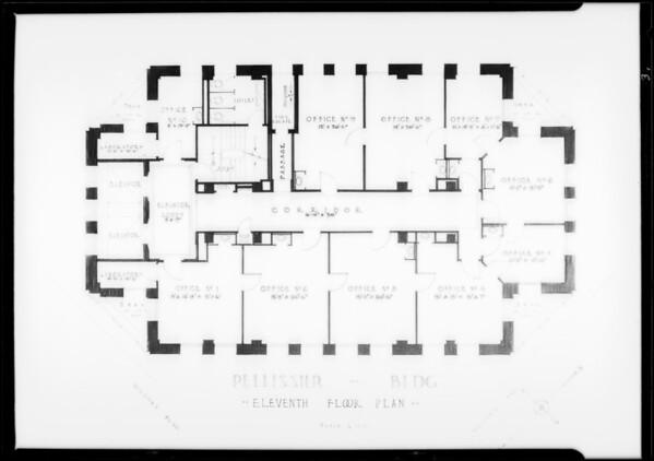 Floor plans, Pellissier Building, Southern California, 1930