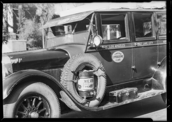 Lincoln Limousine Line, Southern California, 1931