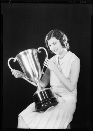 Publicity shots with Patricia O'Grady, Southern California, 1929