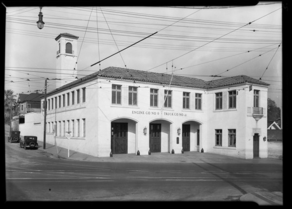 Fire & police stations, 1715 West Florence Avenue, 15162 Beverly Boulevard, 621 Venice Boulevard, Los Angeles, CA, 1930